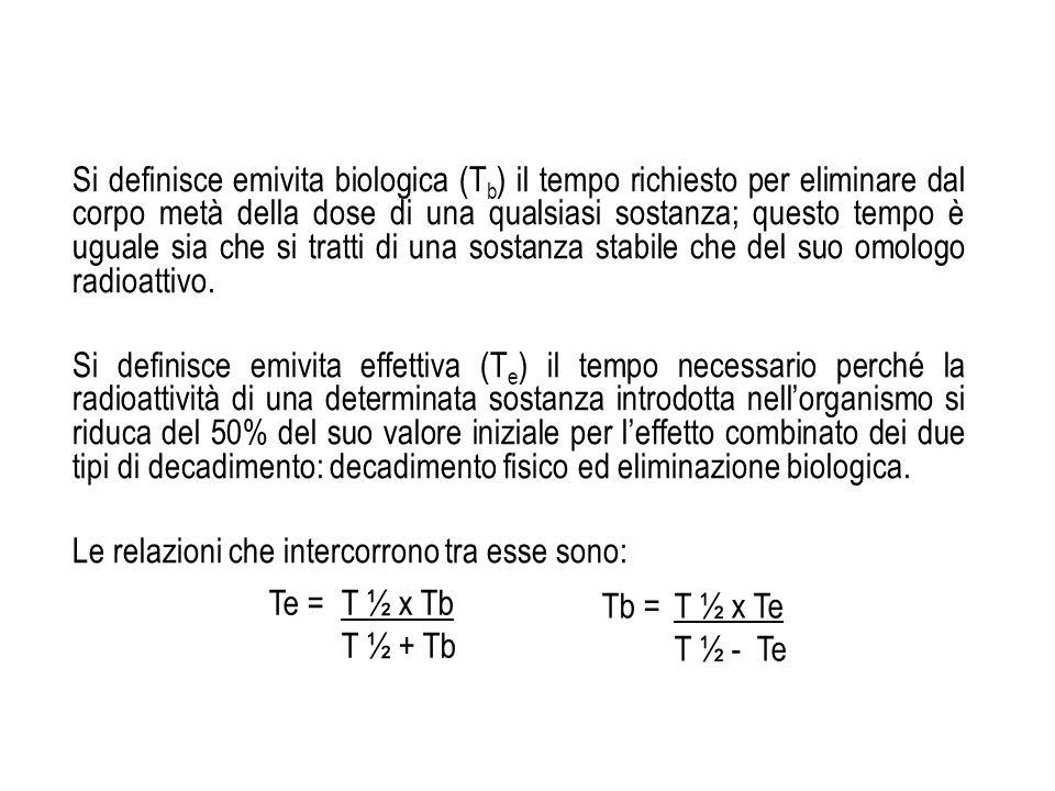 Unità di misura Lattività veniva prima misurata in Curie (Ci) 1 Ci = 3,7 x 10 10 dps (disintegrazioni per secondo) che è una quantità molto elevata (rappresenta lattività di 1 g di 226 Ra, originariamente usata per riferimento).