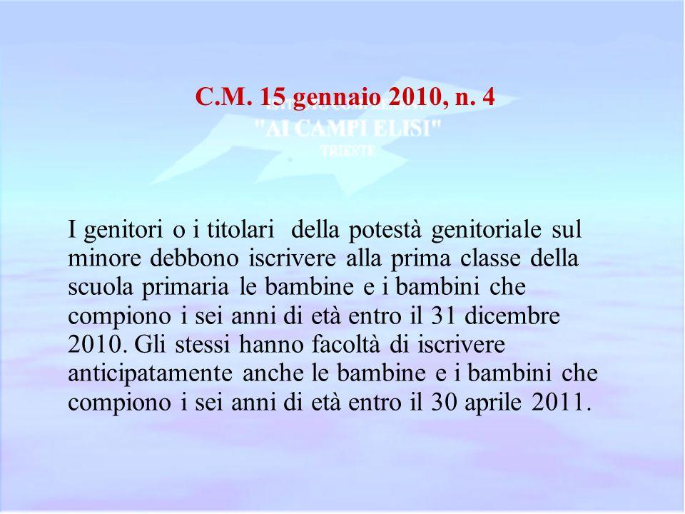 C.M.15 gennaio 2009, n.