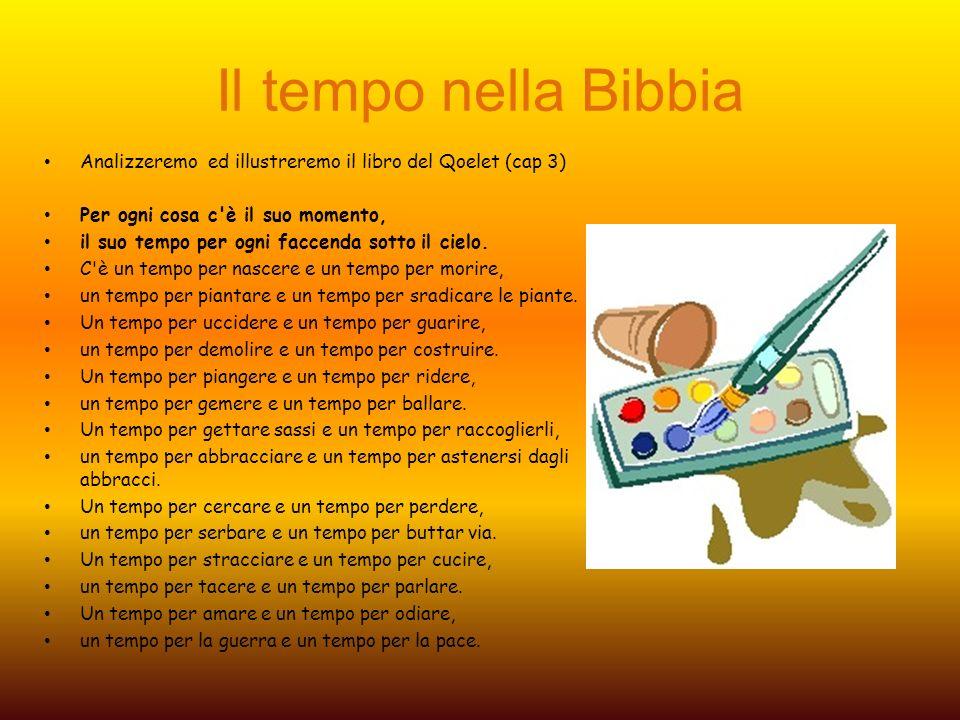 Il tempo nella Bibbia Analizzeremo ed illustreremo il libro del Qoelet (cap 3) Per ogni cosa c'è il suo momento, il suo tempo per ogni faccenda sotto