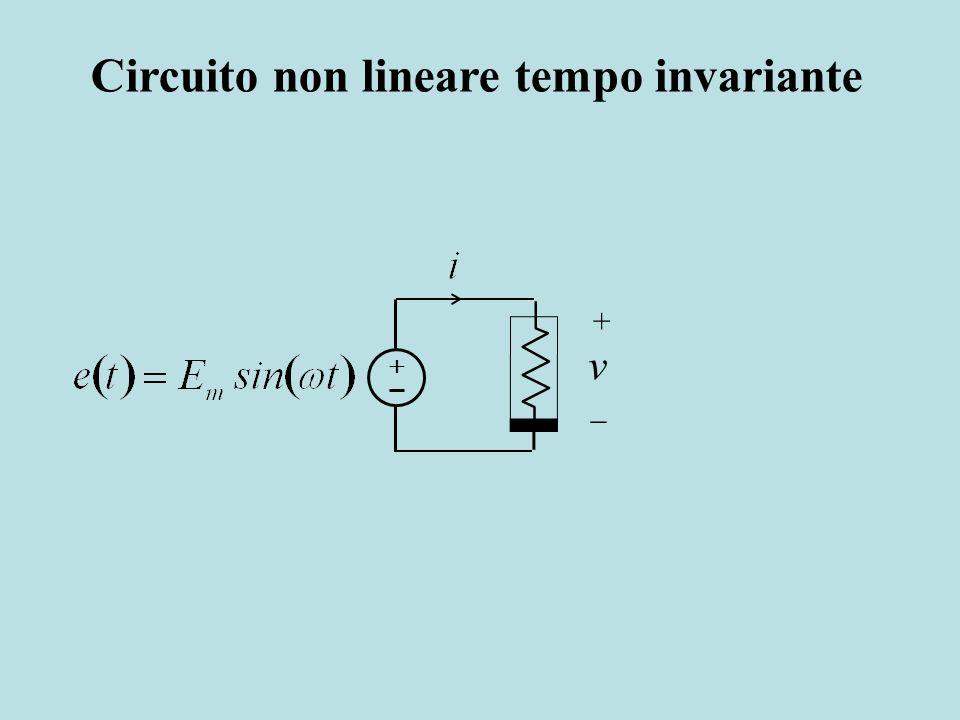 Circuito non lineare tempo invariante v +