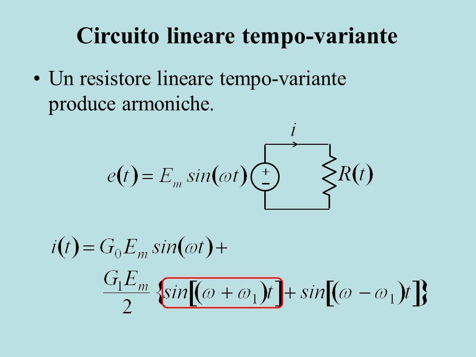 Un resistore lineare tempo-variante produce armoniche. Circuito lineare tempo-variante