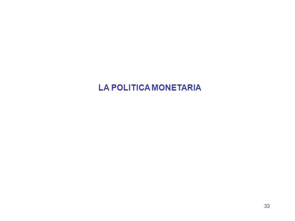 33 LA POLITICA MONETARIA