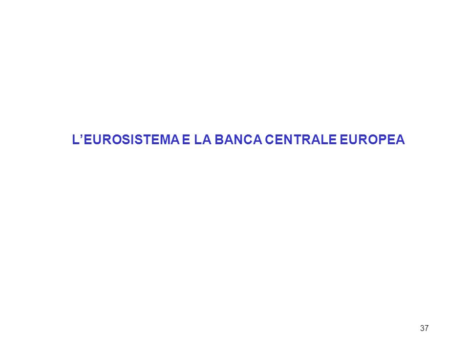 37 LEUROSISTEMA E LA BANCA CENTRALE EUROPEA