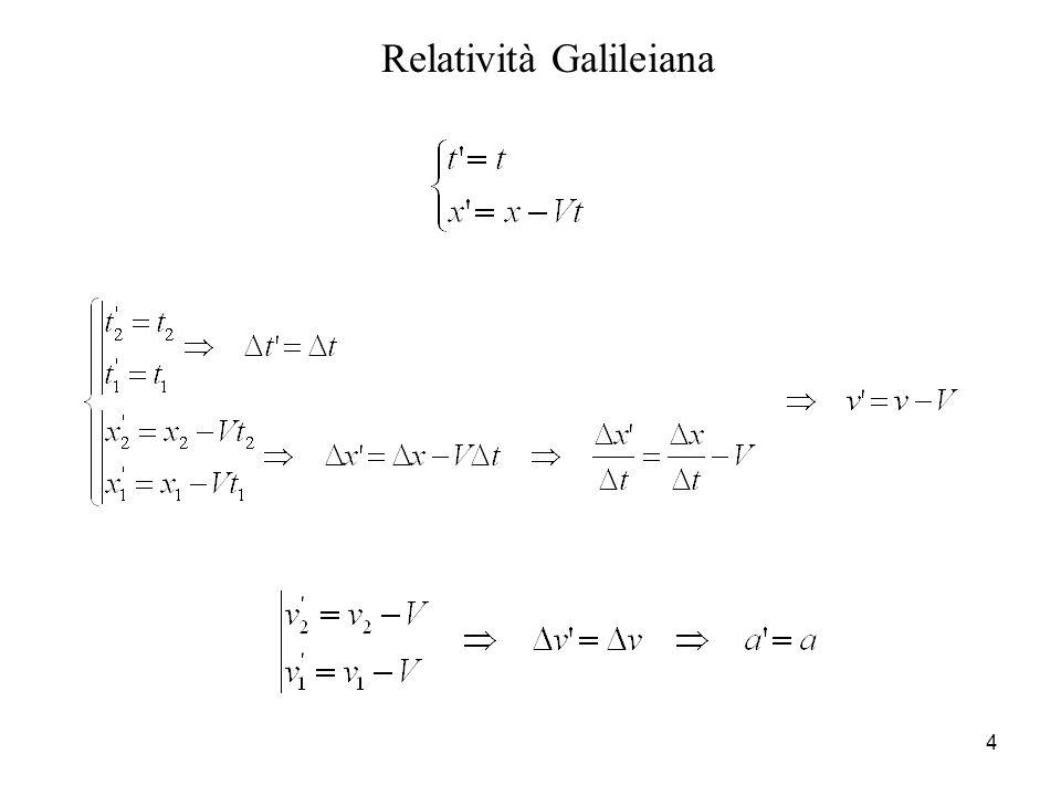 4 Relatività Galileiana