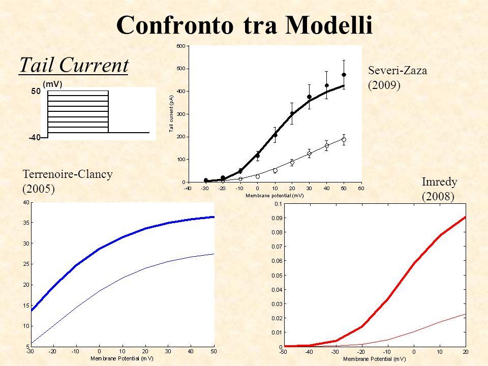 Confronto tra Modelli Tail Current Severi-Zaza (2009) Terrenoire-Clancy (2005) Imredy (2008)