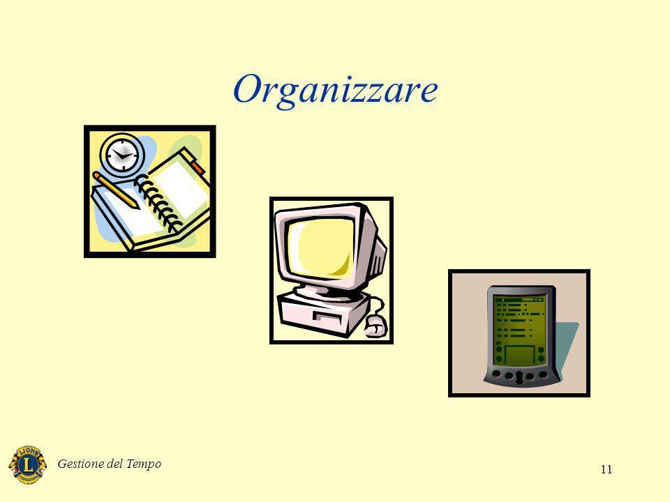 Gestione del Tempo 11 Organizzare