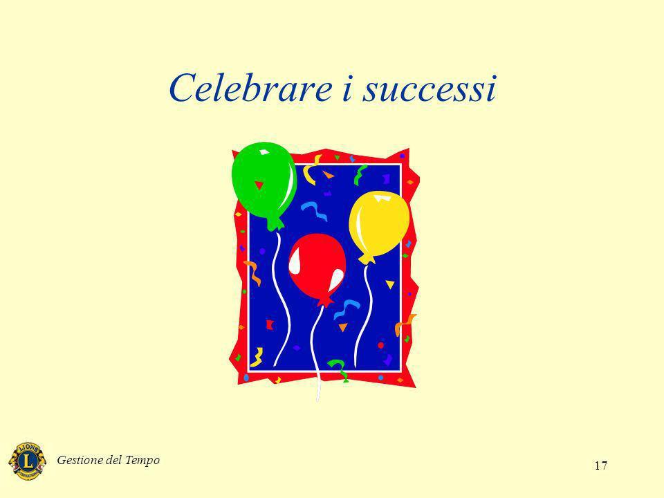 Gestione del Tempo 17 Celebrare i successi