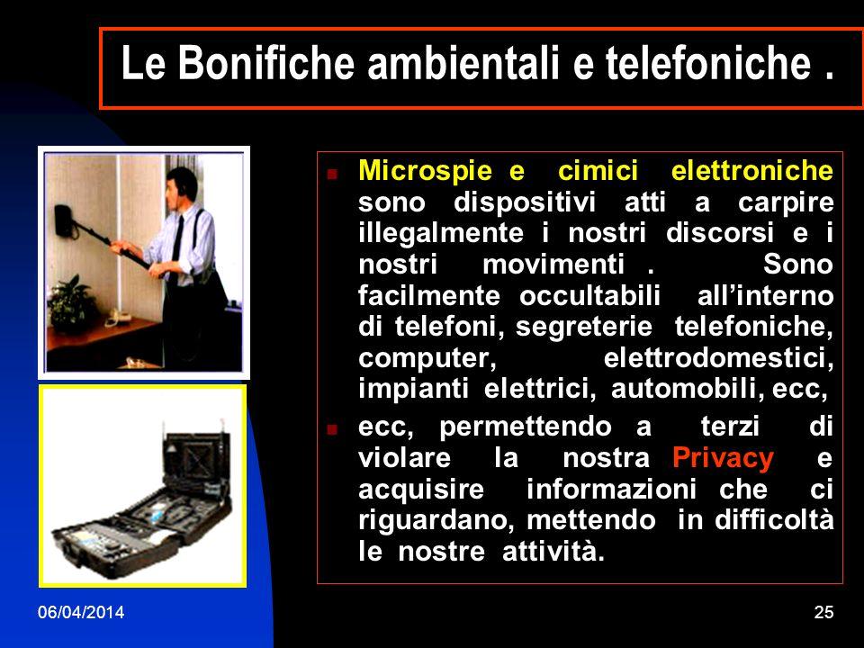 06/04/201424 MICROSPIE VIDEO Sistema di microtelecamere A / V.
