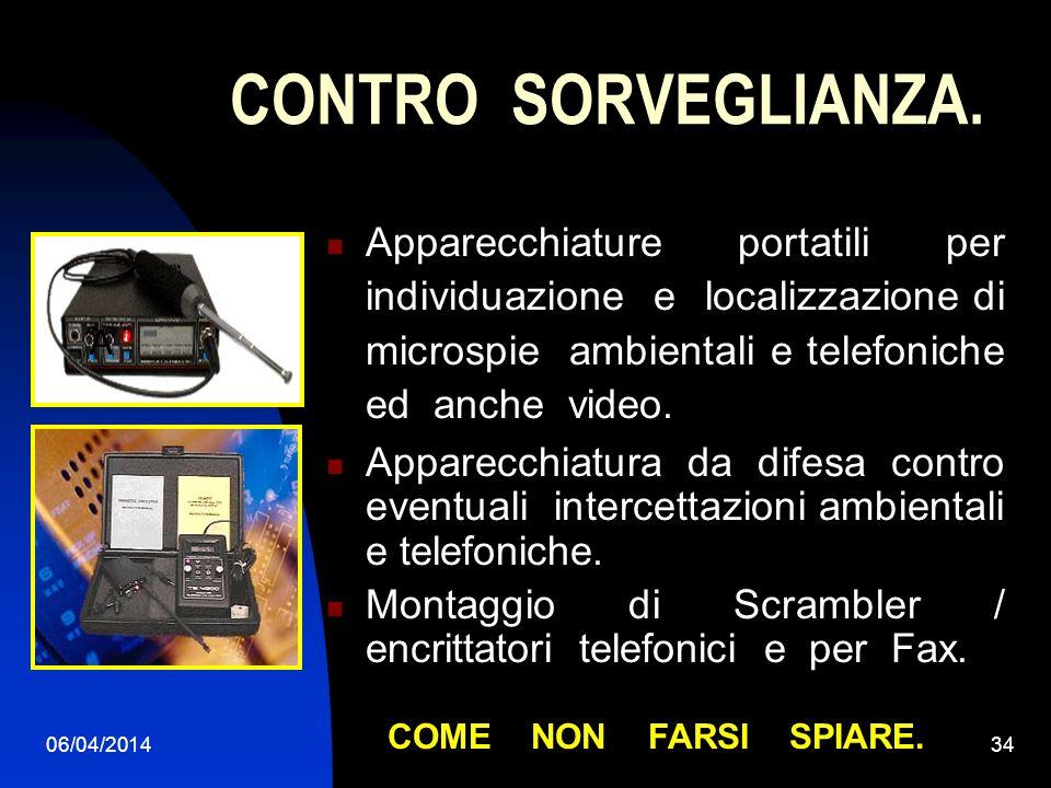 06/04/201433 SORVEGLINZA AUDIO. Sorveglianza audio ambientale e telefonica.