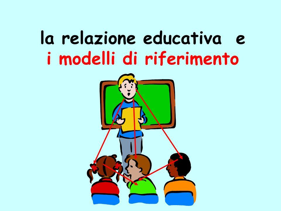 la relazione educativa e i modelli di riferimento