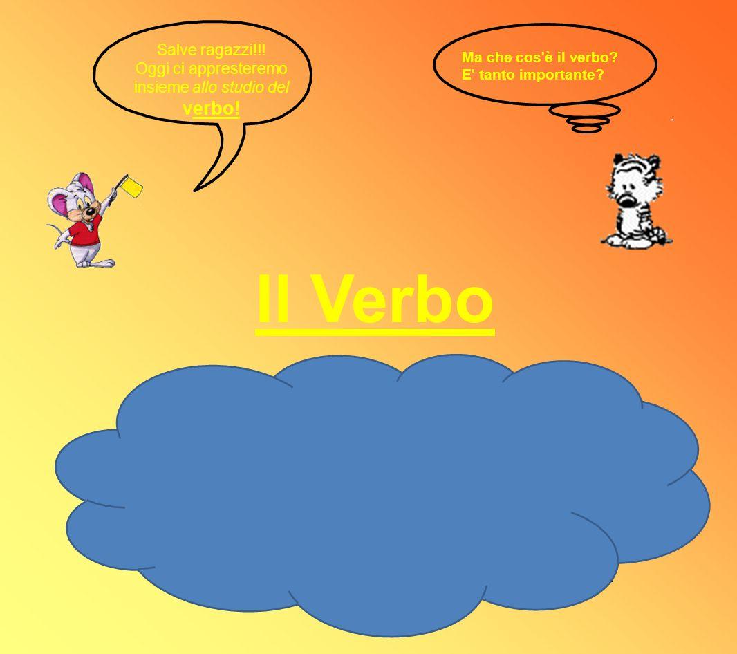 Salve ragazzi!!! Oggi ci appresteremo insieme allo studio del verbo! Il Verbo Ma che cos'è il verbo? E' tanto importante? Ha il compito di avviare il