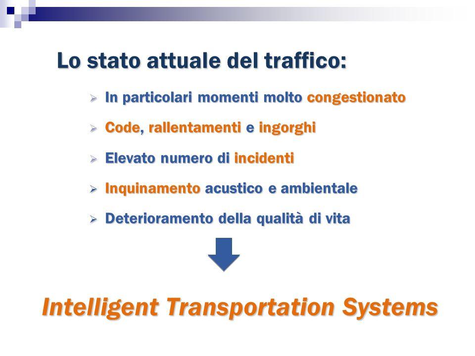 Lo stato attuale del traffico: In particolari momenti molto congestionato In particolari momenti molto congestionato Code, rallentamenti e ingorghi Co