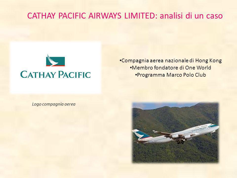 CATHAY PACIFIC AIRWAYS LIMITED: analisi di un caso Compagnia aerea nazionale di Hong Kong Membro fondatore di One World Programma Marco Polo Club Logo