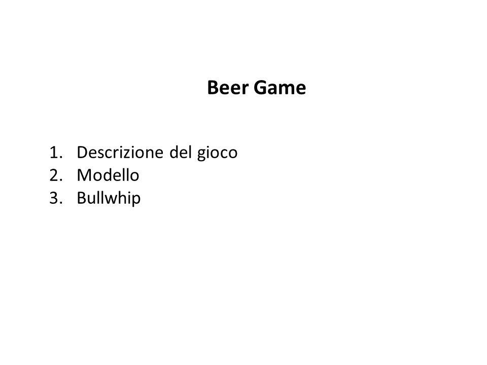 Il Beer Game è un gioco sviluppato negli anno 60 presso il MIT Sloan School Management di Boston con lobiettivo di illustrare gli obiettivi chiave del Supply Chain Management.