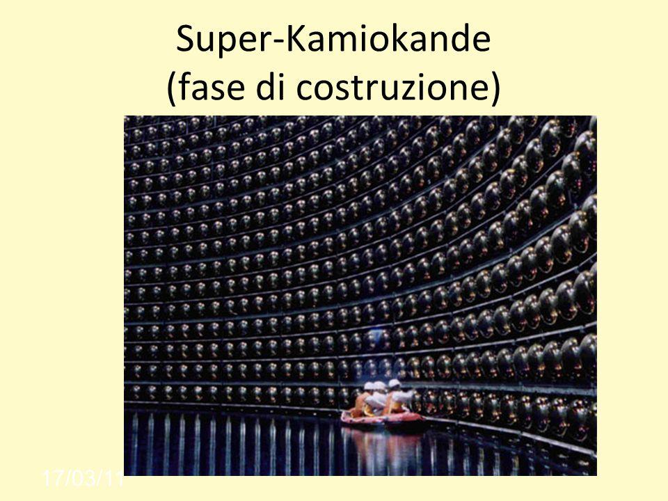 Super-Kamiokande (fase di costruzione) 17/03/11