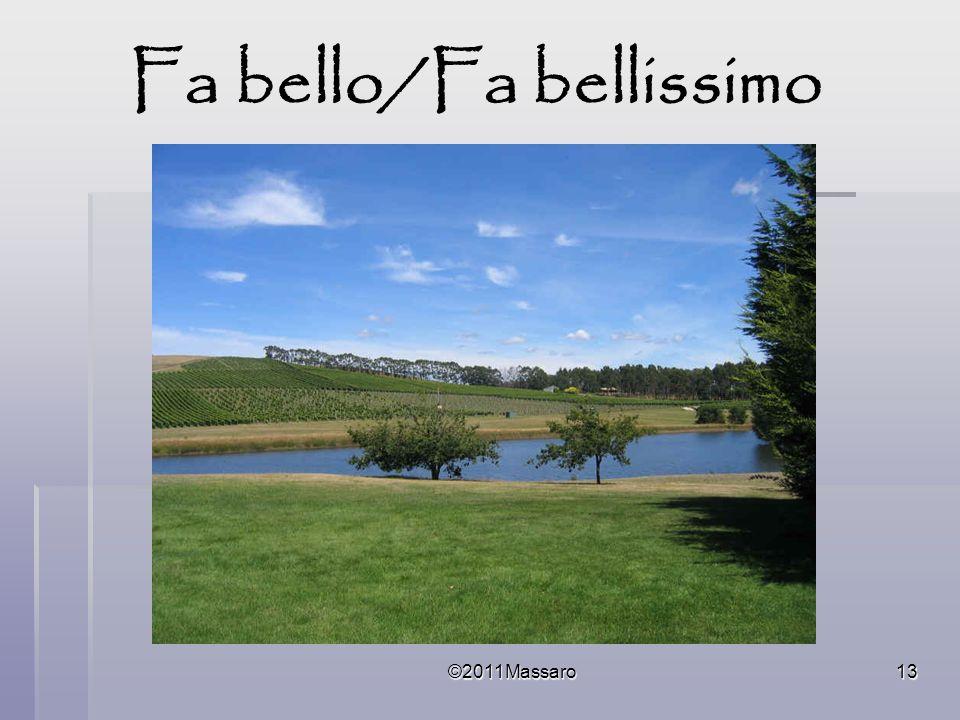 ©2011Massaro13 Fa bello/Fa bellissimo