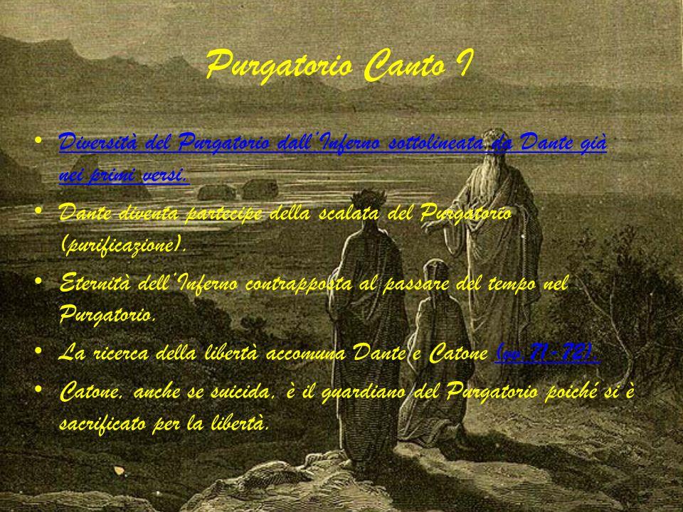 Purgatorio Canto I Diversità del Purgatorio dallInferno sottolineata da Dante già nei primi versi. Diversità del Purgatorio dallInferno sottolineata d