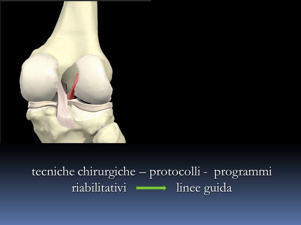 tecniche chirurgiche – protocolli - programmi riabilitativi linee guida