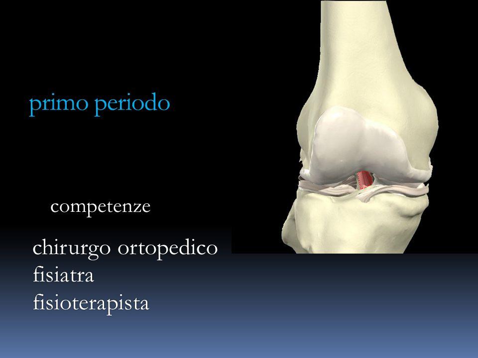 primo periodo competenze chirurgo ortopedico fisiatrafisioterapista