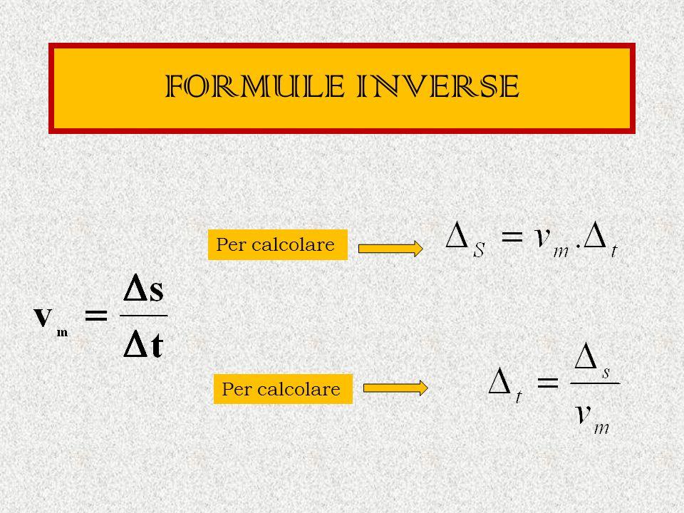 FORMULE INVERSE Per calcolare