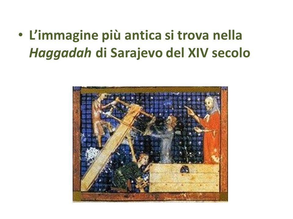 Limmagine più antica si trova nella Haggadah di Sarajevo del XIV secolo