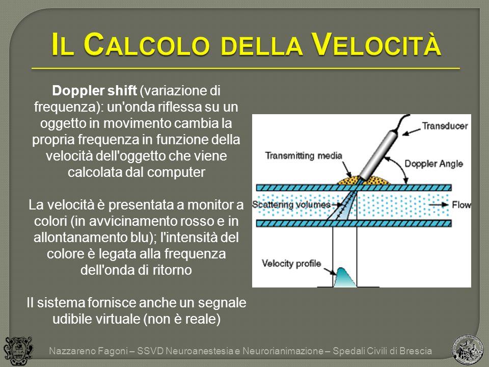 Doppler shift (variazione di frequenza): un'onda riflessa su un oggetto in movimento cambia la propria frequenza in funzione della velocità dell'ogget