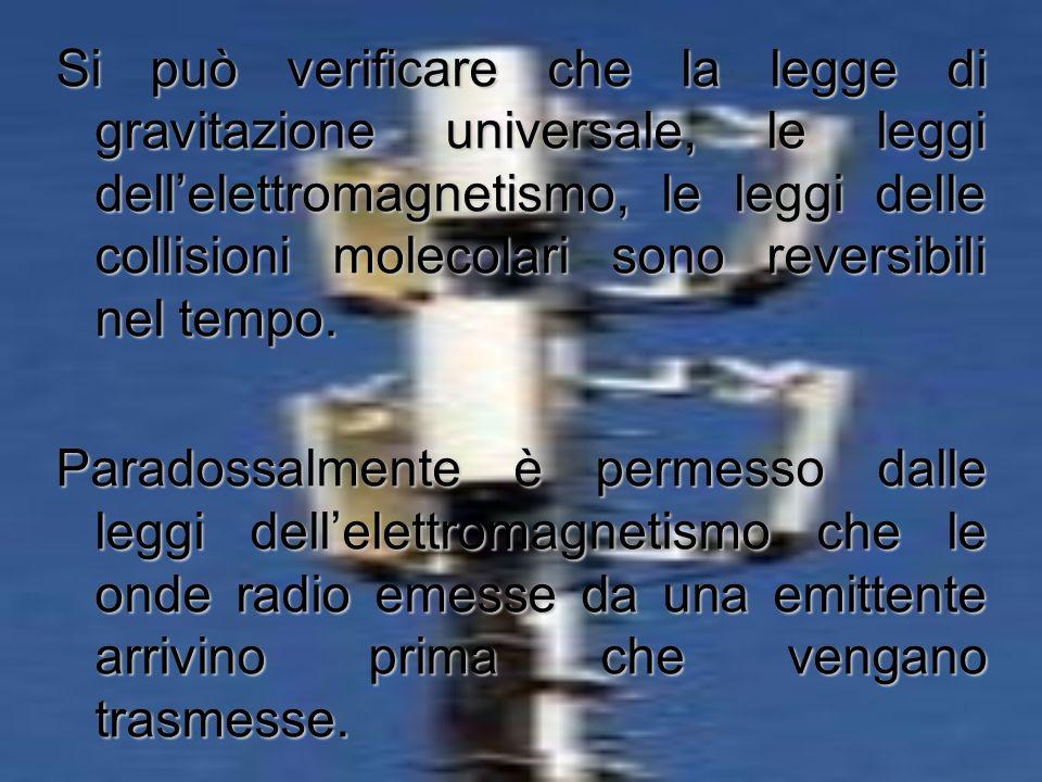 le leggi della meccanica sono indipendenti dal tempo A partire da Galileo e Newton, e lungo tutto il corso del positivismo, le importanti conquiste de