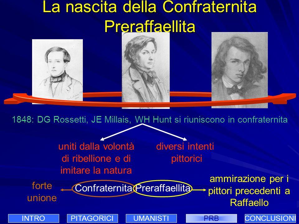 La nascita della Confraternita Preraffaellita 1848: DG Rossetti, JE Millais, WH Hunt si riuniscono in confraternita Confraternita Preraffaellita diver