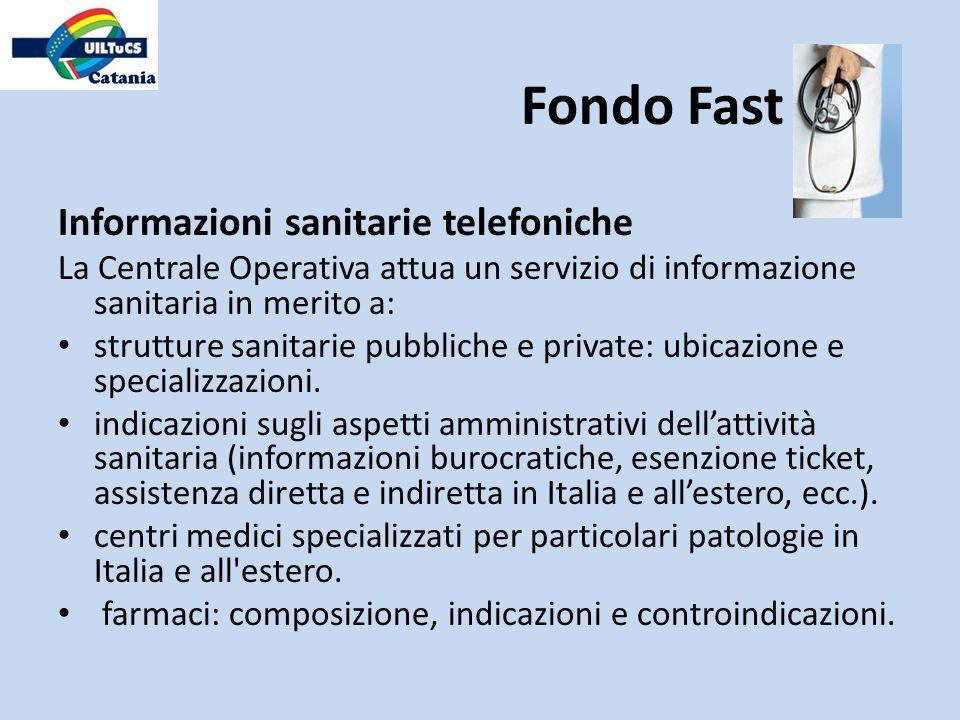 Informazioni sanitarie telefoniche La Centrale Operativa attua un servizio di informazione sanitaria in merito a: strutture sanitarie pubbliche e priv