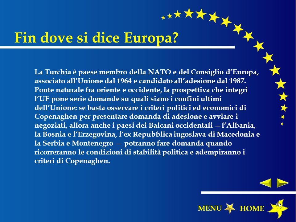 La Turchia è paese membro della NATO e del Consiglio dEuropa, associato allUnione dal 1964 e candidato alladesione dal 1987. Ponte naturale fra orient