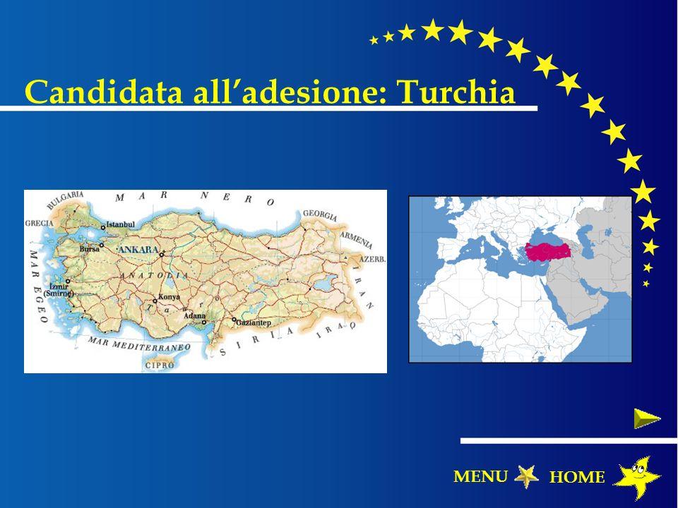 Candidata alladesione: Turchia HOME MENU