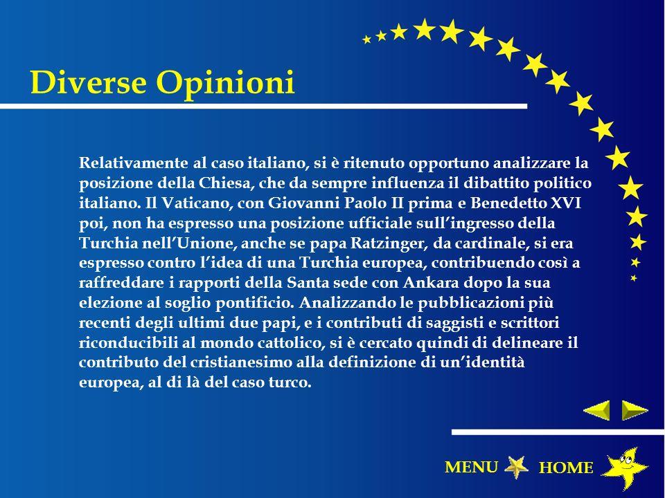 Relativamente al caso italiano, si è ritenuto opportuno analizzare la posizione della Chiesa, che da sempre influenza il dibattito politico italiano.