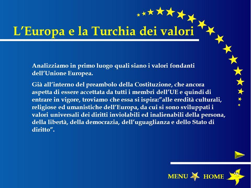 Analizziamo in primo luogo quali siano i valori fondanti dellUnione Europea. Già allinterno del preambolo della Costituzione, che ancora aspetta di es