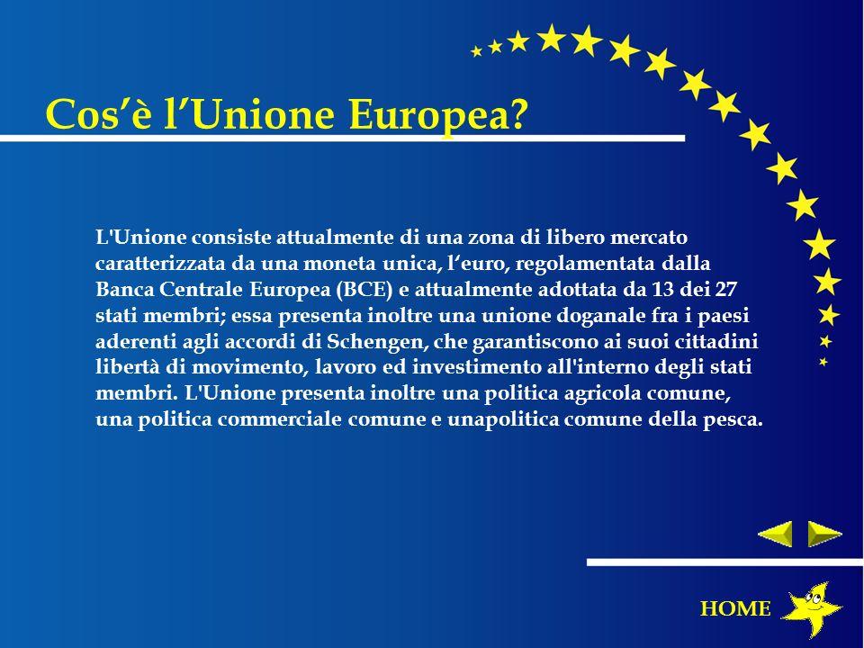 L'Unione consiste attualmente di una zona di libero mercato caratterizzata da una moneta unica, leuro, regolamentata dalla Banca Centrale Europea (BCE