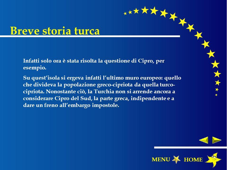 Infatti solo ora è stata risolta la questione di Cipro, per esempio. Su questisola si ergeva infatti lultimo muro europeo: quello che divideva la popo