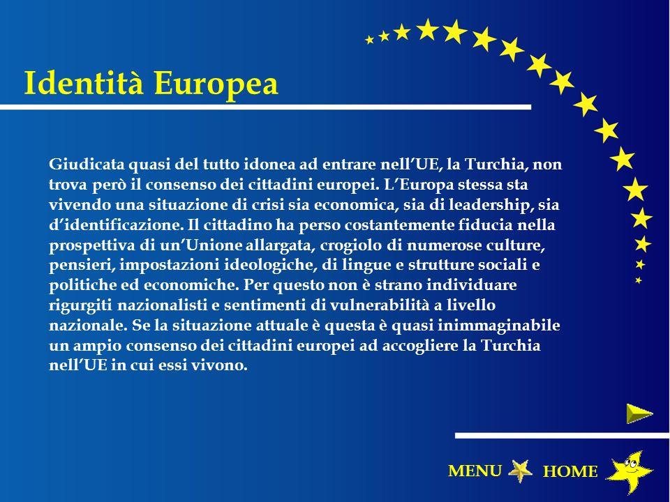 Giudicata quasi del tutto idonea ad entrare nellUE, la Turchia, non trova però il consenso dei cittadini europei. LEuropa stessa sta vivendo una situa