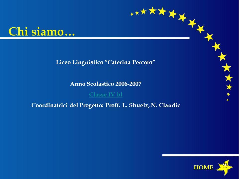 Chi siamo… HOME Liceo Linguistico Caterina Percoto Anno Scolastico 2006-2007 Classe IV bl Coordinatrici del Progetto: Proff. L. Sbuelz, N. Claudic