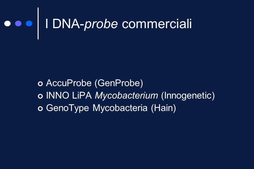 Enorme risparmio di tempo Specificità pressoché assoluta Disponibili per un numero limitato di specie Costo Complessità di esecuzione DNA-probe, alter