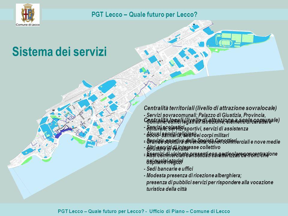 PGT Lecco – Quale futuro per Lecco? - Ufficio di Piano – Comune di Lecco PGT Lecco – Quale futuro per Lecco? Centralità territoriali (livello di attra