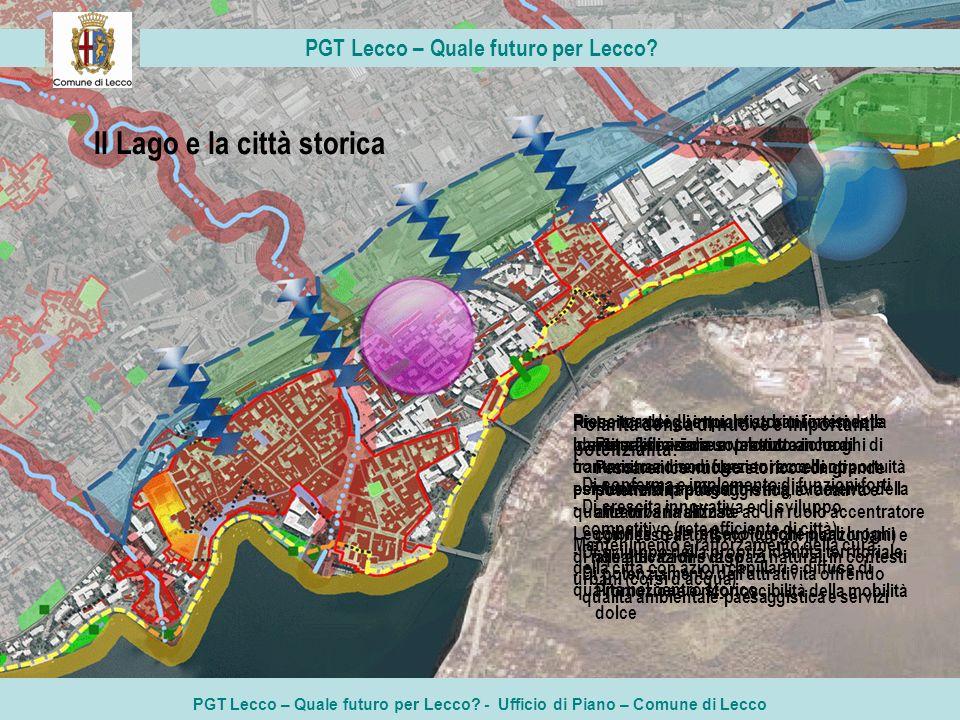 PGT Lecco – Quale futuro per Lecco? - Ufficio di Piano – Comune di Lecco PGT Lecco – Quale futuro per Lecco? Il Lago e la città storica Polarità densa