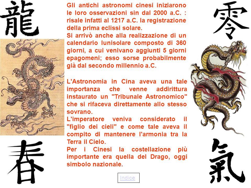Gli antichi astronomi cinesi iniziarono le loro osservazioni sin dal 2000 a.C.