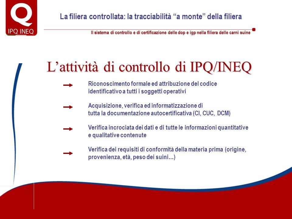 Il sistema di controllo e di certificazione delle dop e igp nella filiera delle carni suine La filiera controllata: la tracciabilità a monte della fil