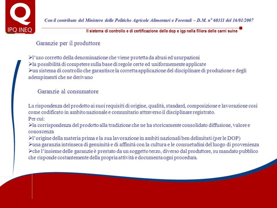 Garanzie per il produttore luso corretto della denominazione che viene protetta da abusi ed usurpazioni luso corretto della denominazione che viene pr