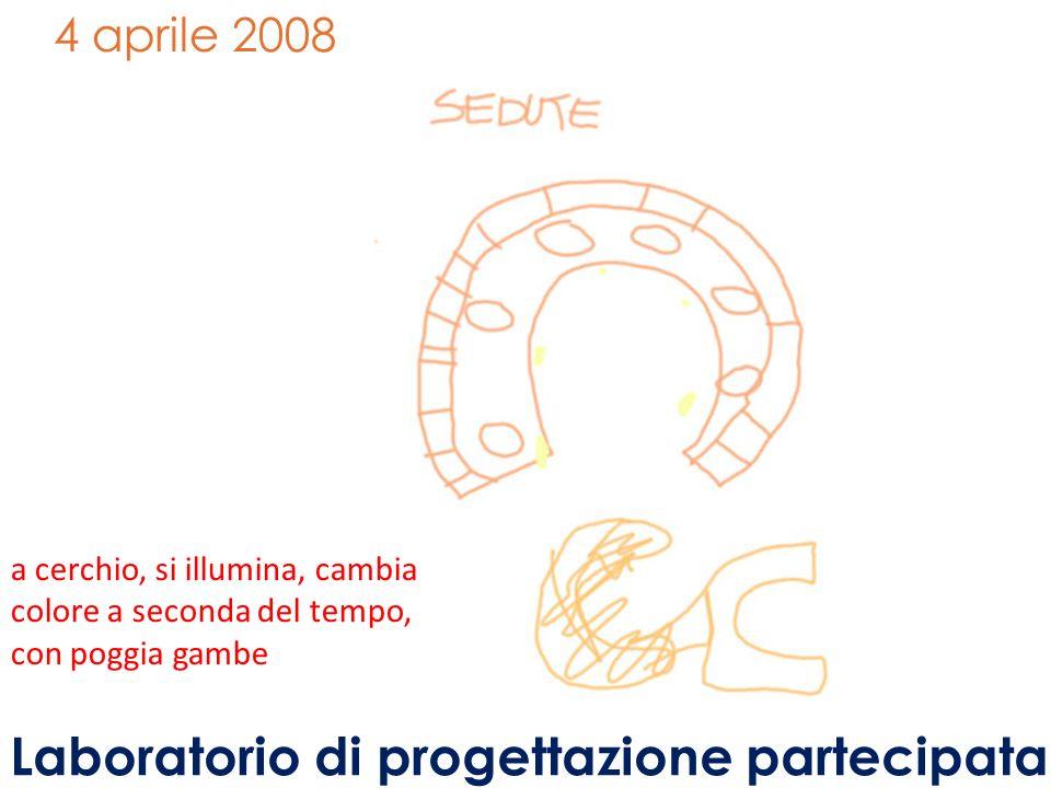 4 aprile 2008 a cerchio, si illumina, cambia colore a seconda del tempo, con poggia gambe