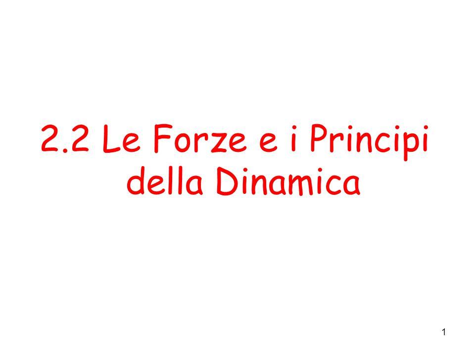 1 2.2 Le Forze e i Principi della Dinamica