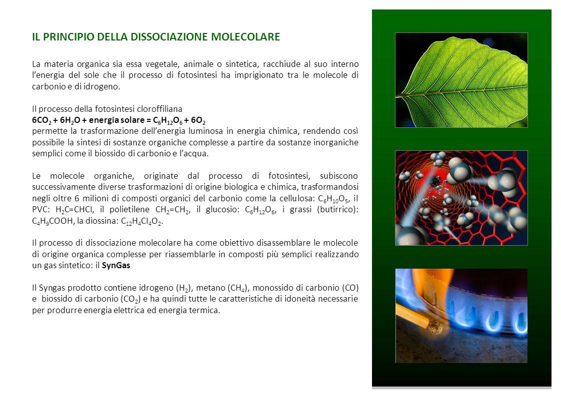 IL PRINCIPIO DELLA DISSOCIAZIONE MOLECOLARE La materia organica sia essa vegetale, animale o sintetica, racchiude al suo interno lenergia del sole che