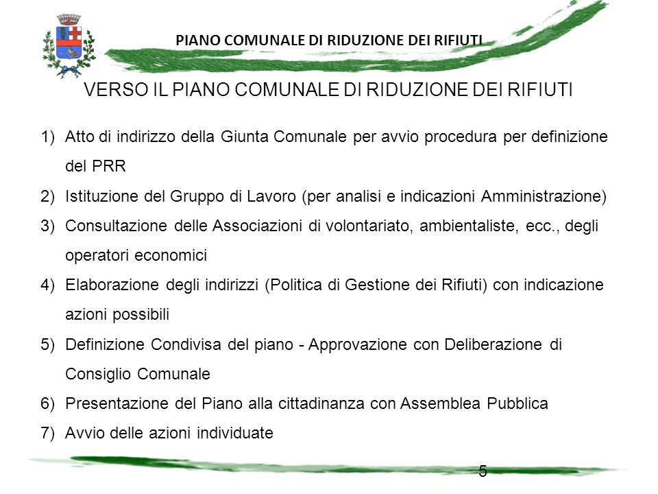PIANO COMUNALE DI RIDUZIONE DI RIFIUTI 46