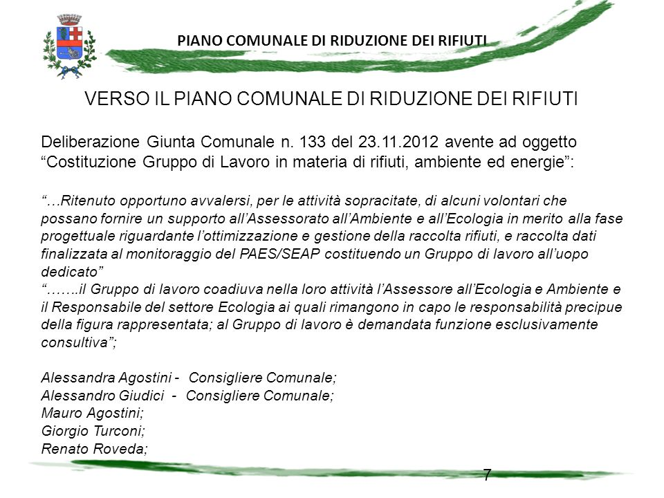 PIANO COMUNALE DI RIDUZIONE DI RIFIUTI 38