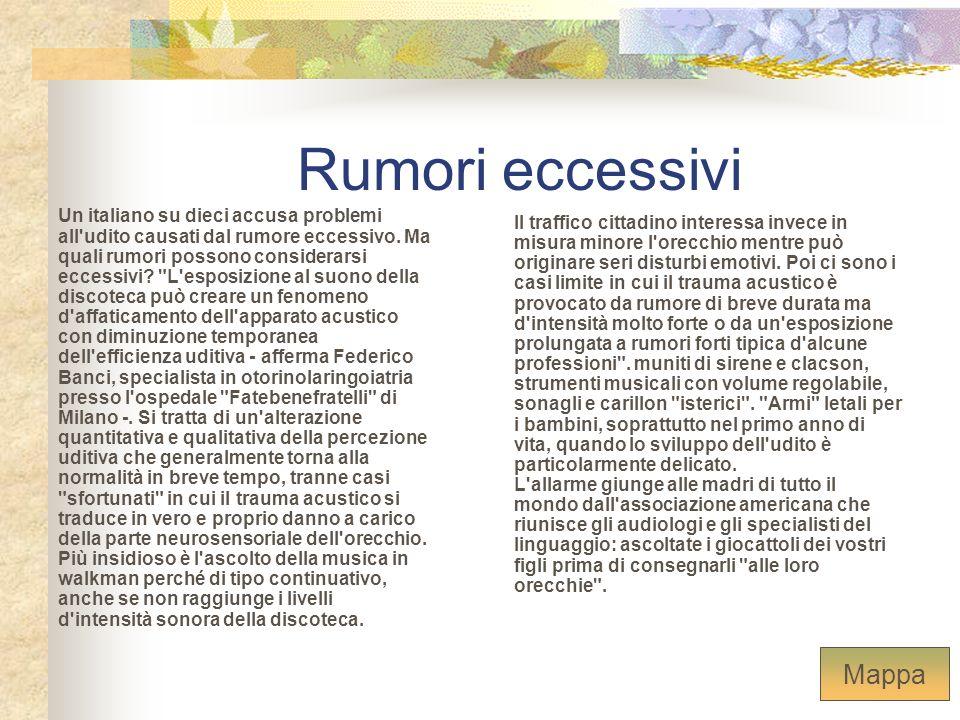 Rumori eccessivi Un italiano su dieci accusa problemi all'udito causati dal rumore eccessivo. Ma quali rumori possono considerarsi eccessivi?