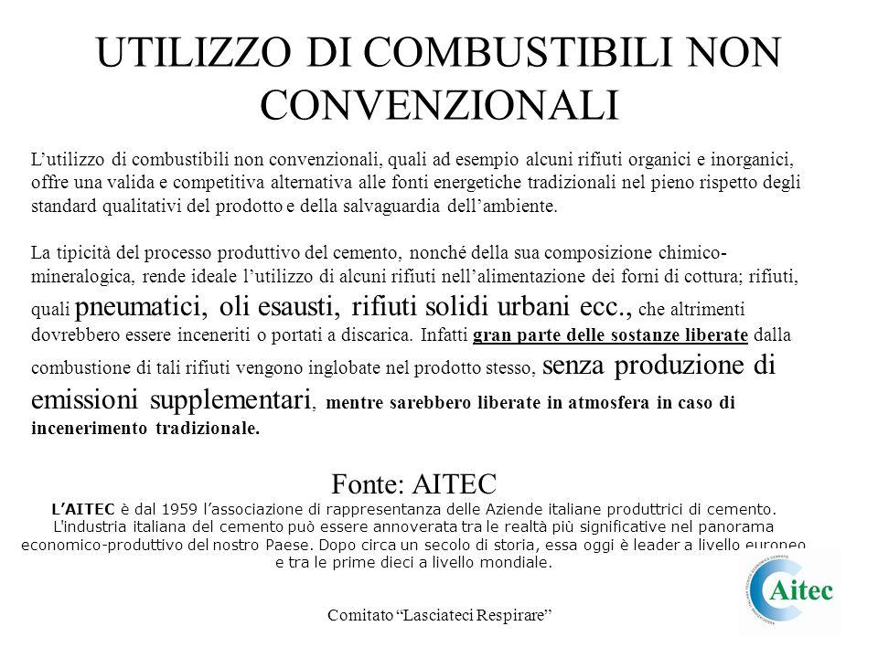 Comitato Lasciateci Respirare UTILIZZO DI COMBUSTIBILI NON CONVENZIONALI Lutilizzo di combustibili non convenzionali, quali ad esempio alcuni rifiuti